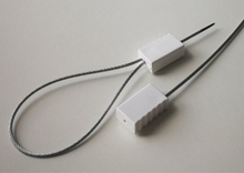 Tamper evident self lock cable seals for customs and container doors C-163